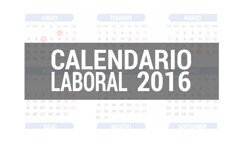 Calendario laboral para 2016