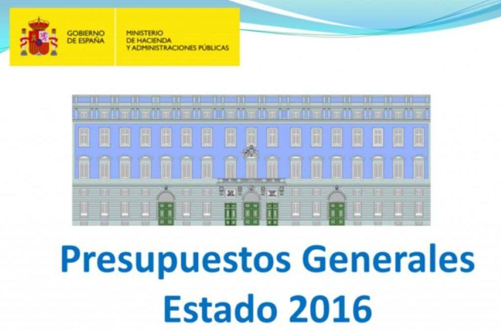 Novedades tributarias introducidas por la Ley de Presupuestos Generales del Estado de 2016