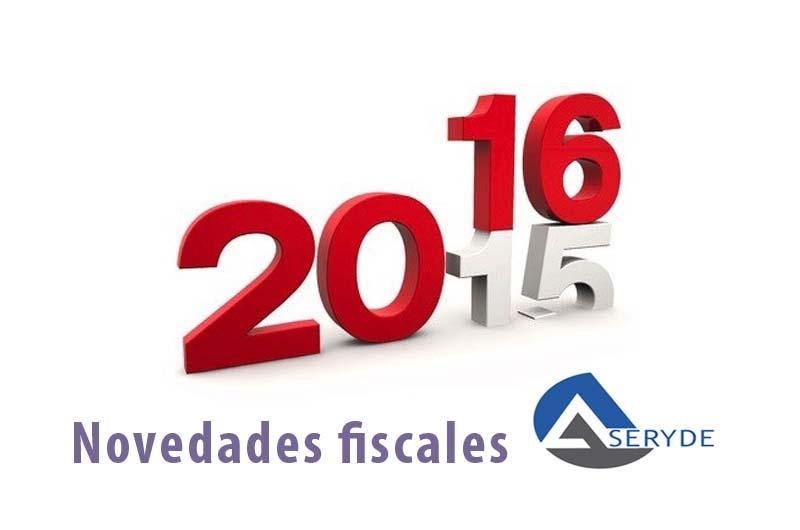 Novedades fiscales para este 2016