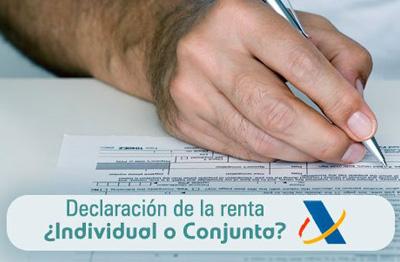 Declaración IRPF 2015: ¿individual o conjunta?