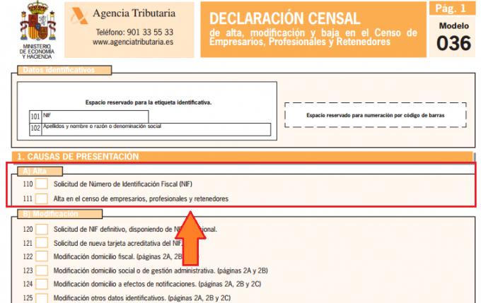 Obligaciones que marca Hacienda para el alta en el Censo de Empresarios
