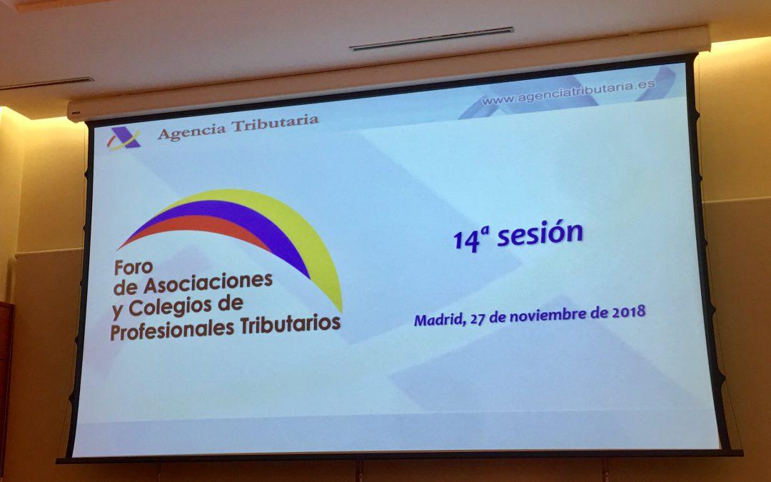 Reunión del Foro de Asociaciones y Colegios de Profesionales Tributarios