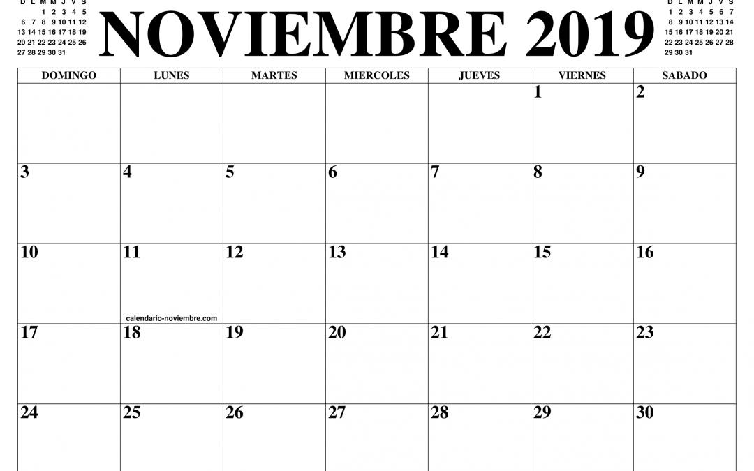 Calendario del contribuyente mes de noviembre