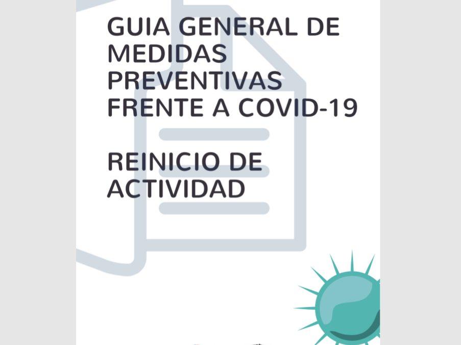 Guía de medidas preventivas frente al covid-19 en el reinicio de la actividad